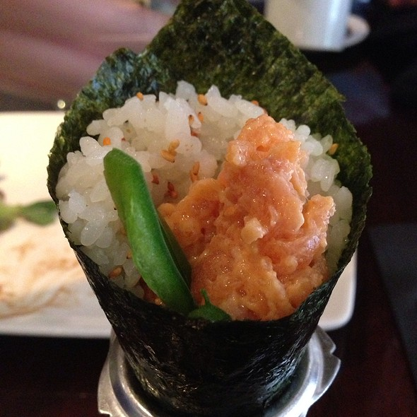 Spicy Salmon Hand Roll - Kaz Sushi Bistro, Washington, DC