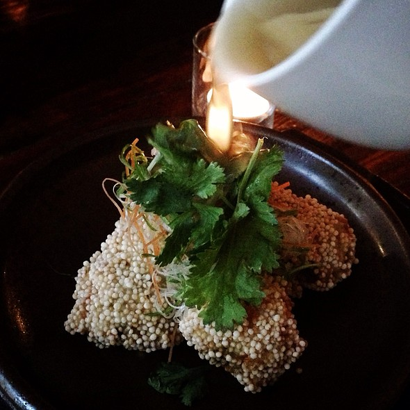 Fried Oysters With Cilantro Sauce - Wasan East Village, New York, NY