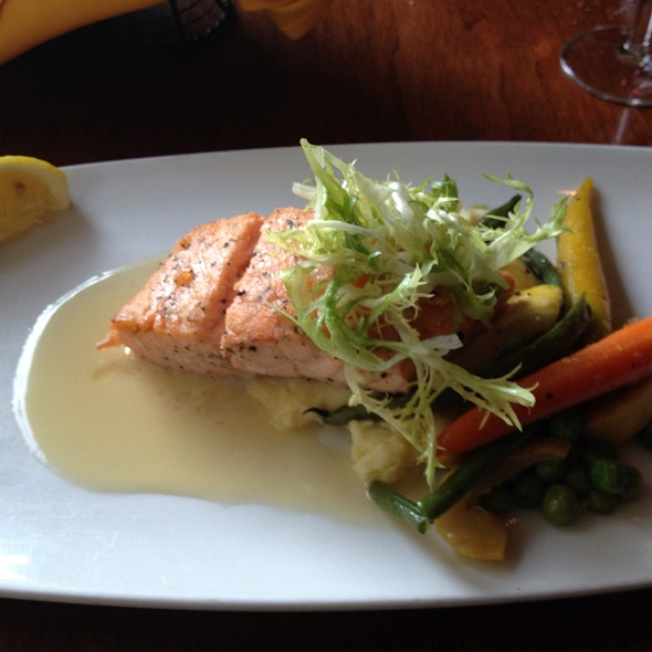 Seared Atlantic Salmon - Biga on the Banks, San Antonio, TX