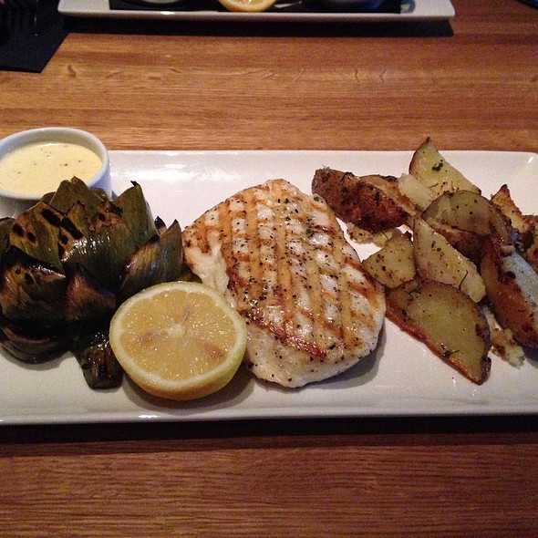 Roasted Halibut, Artichoke, Potatoes - Devon Seafood + Steak - Hershey, Hershey, PA