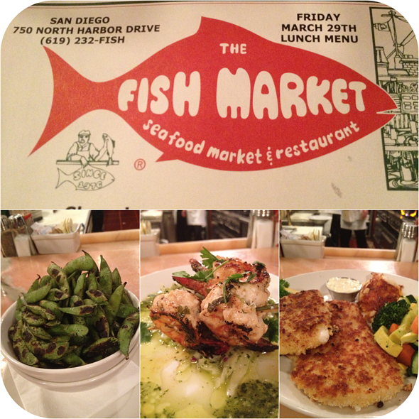 Dinner Collage - The Fish Market, San Diego, CA