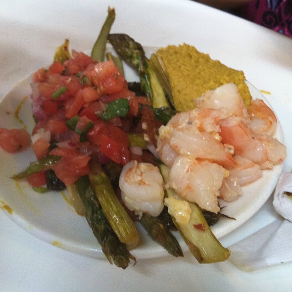Salsa, Asparagus, Shrimp, & Hummus - Stefano's On The Market, Roanoke, VA