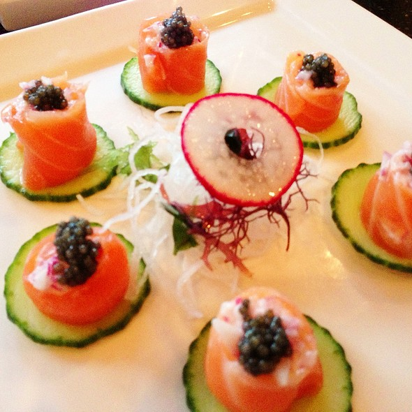 Salmon Sashimi With Black Caviar - Kiwami, Studio City, CA