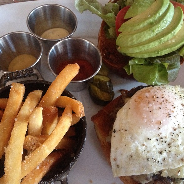 Hamburger With Fried Egg And Avocado - Second Bar + Kitchen, Austin, TX