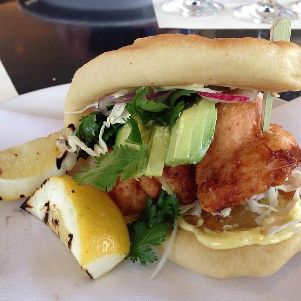 Crispy Shrimp Flatbread Sandwich - Artisan, Paso Robles, CA