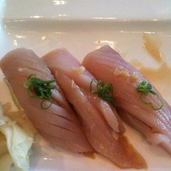 Bluefin Tuna, Hirame, White Tuna, Albacore Nigiri - BlueFin Japanese Restaurant, San Jose, CA