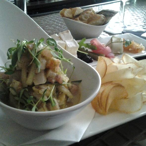 Market Ceviche Shrimp, Tilefish & Dorado, Cucumber, Jalapeño, Tomatillo & Cilantro Marinade, Yucca Chips  - Market 17, Fort Lauderdale, FL