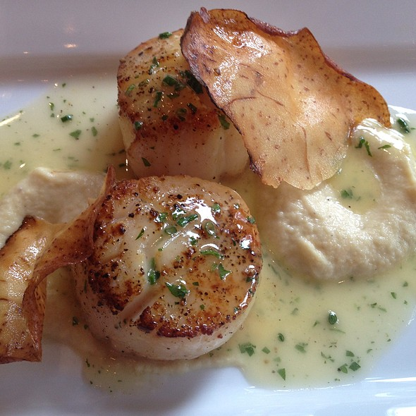 Scallops Appetizer - The Bocuse Restaurant at The Culinary Institute of America, Hyde Park, NY