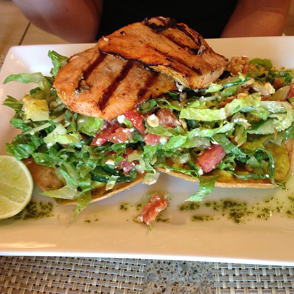 tostada with grilled local dat boat fish - Cactus, Kailua, HI
