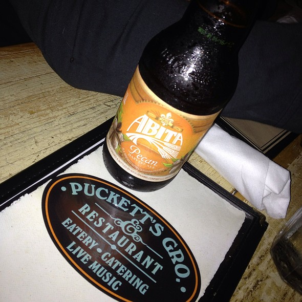 Abita Pecan Beer - Puckett's Historic Downtown Franklin, Franklin, TN
