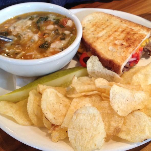Pasta Fagiole Soup And Beef Pannini - Lake Street Kitchen + Bar, Oak Park, IL