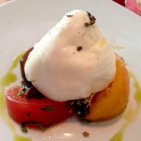 Burrata With Heirloom Tomatoes - Il Cielo Gardens Restaurant & Bar, Beverly Hills, CA