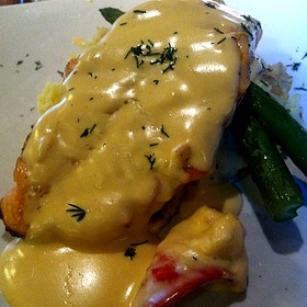 Grilled Salmon - Gamekeepers Taverne, Chagrin Falls, OH
