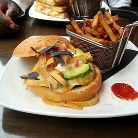 The El Dorado Burger W/Slaw - Hush Restaurant & Bar, Toronto, ON
