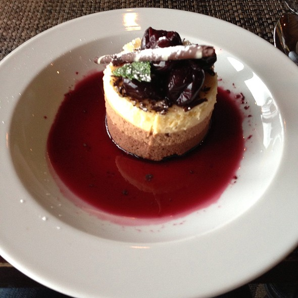 Triple Chocolate Mousse With Cherry Brandy Reduction - Six Seven Restaurant & Lounge, Seattle, WA