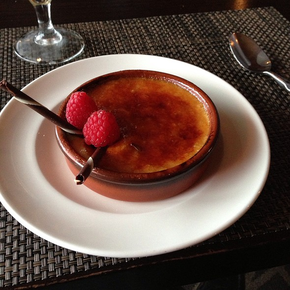 Lavender Honey Creme Brulee - Six Seven Restaurant & Lounge, Seattle, WA