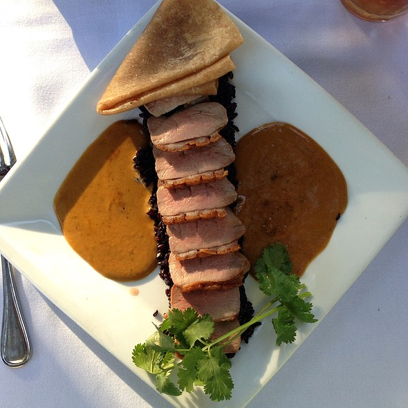 Duck Breast With Black Rice - Novo Restaurant, San Luis Obispo, CA