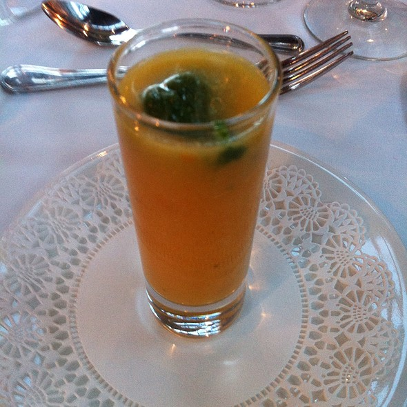 Yellow Tomato Gazpacho - Bistro Perrier at Walnut Hill College, Philadelphia, PA