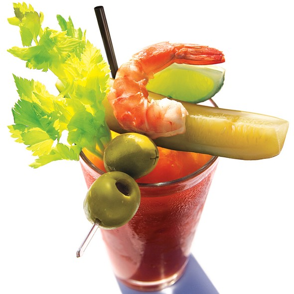Bloody Mary with Pickle - Shaw's Crab House - Chicago, Chicago, IL
