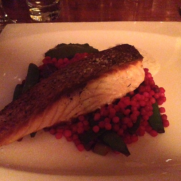 Salmon With Fregola - The Fly Trap, San Francisco, CA