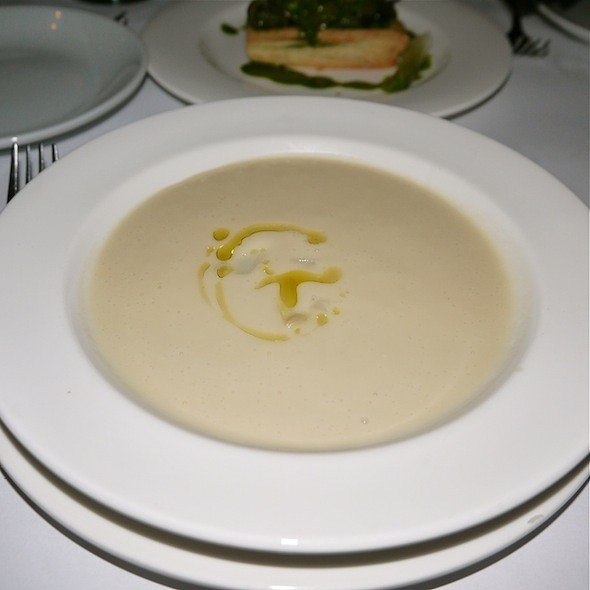 White Asparagus Soup - Bobo Restaurant, New York, NY