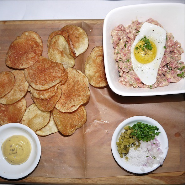 steak tartare - Bobo Restaurant, New York, NY