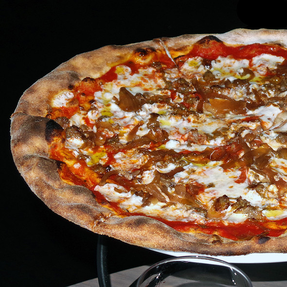 Fennel Sausage & Caramelized Onion Pizza - Sotto 13, New York, NY