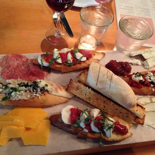 Butchers Platter With 4 Different Bruchettas And Imported Meats And Cheeses - DOC Wine Bar - Lombard, Lombard, IL