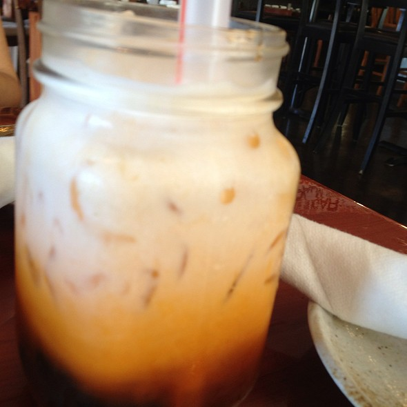 Thai Tea Bubble Tea - Palm Sugar Asian Grills & Dessert Bar, West Palm Beach, FL