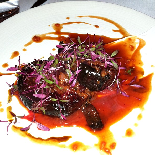 Bloody Beet Steak, yogurt, pan drippings, aged balsamic, amaranth - The Farm and Fisherman, Philadelphia, PA