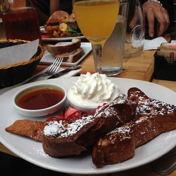 French Toast with Fresh Berry Compote - Paradou, New York, NY