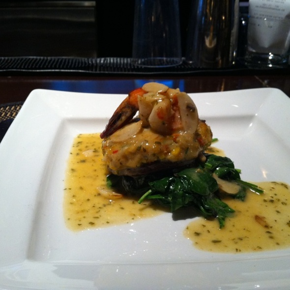 Crabmeat Stuffed Portobello Mushroom - Blackstone Steakhouse, Melville, NY