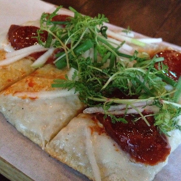 Chorizo And Bleu Cheese Flatbread - Zengo - NYC, New York, NY