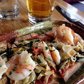 Spicy Prawn Flatbread - Sugo Italian Food & Wine, Calgary, AB