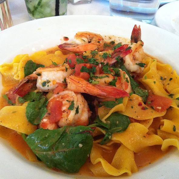 Shrimp With Saffron Tagliatelle Pasta - Piatti - La Jolla, La Jolla, CA