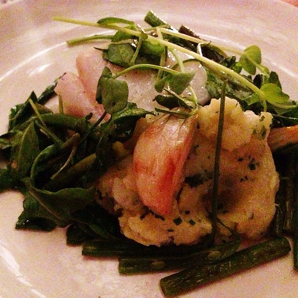 Olive Oil Poached Cod, Potato Ecrase, Haricot Verts, Spring Onions, Arugula, Agretti Beans - The Fat Radish, New York, NY