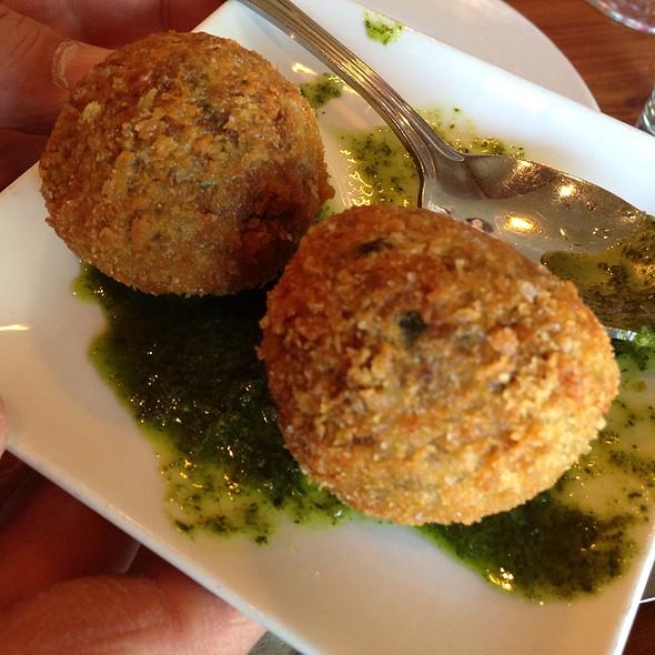 Fried Mondeghili, Salsa Verde - Bellanico Restaurant and Wine Bar, Oakland, CA