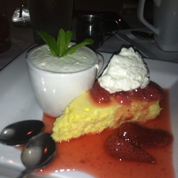 Goat Cheesecake With Fresh Strawberries - Stella's Bistro - Simpsonville, Simpsonville, SC