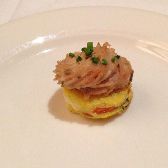 Salmon Frittata Amuse Bouche - Erling Jensen The Restaurant, Memphis, TN