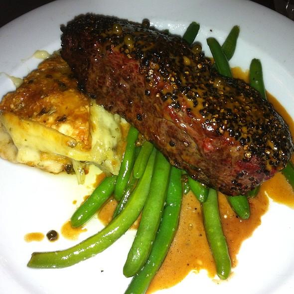 New York Strip Au Poivre - Django Restaurant, Des Moines, IA