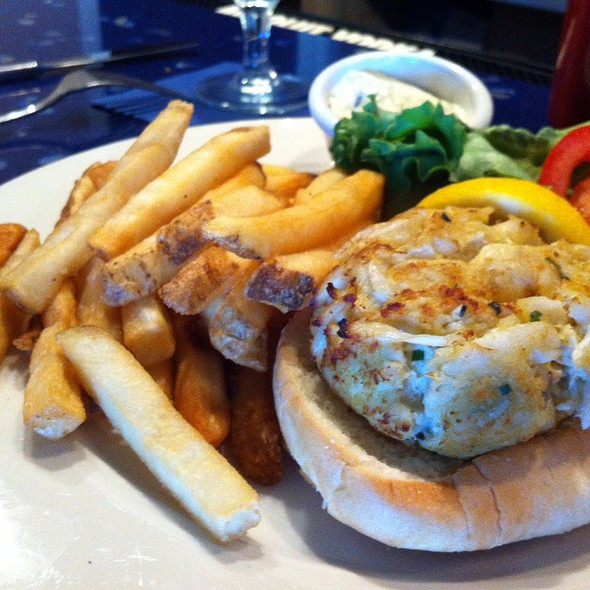Crab Cake Sandwich - Carrol's Creek Cafe, Annapolis, MD