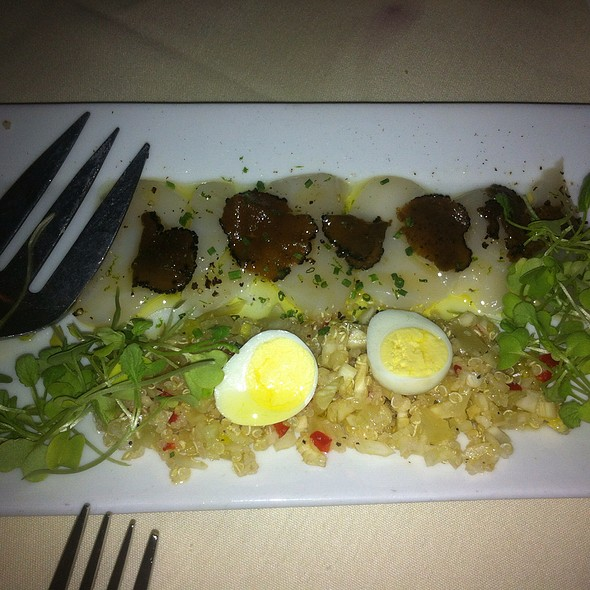 Scallop Crudo With Black Truffles - LuNello Restaurant, Cedar Grove, NJ