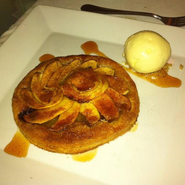 Apple Tarte With Goat Cheese Ice Cream - Bistro Bis, Washington, DC