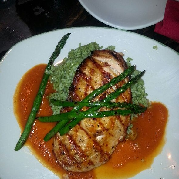 Salmon With Asparagus And Rice  - Diablo's Cantina - Monte Carlo, Las Vegas, NV