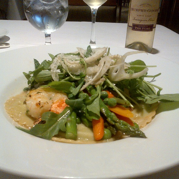 shrimps and sweet pea ravioli - Zodiac at Neiman Marcus – Downtown Dallas, Dallas, TX