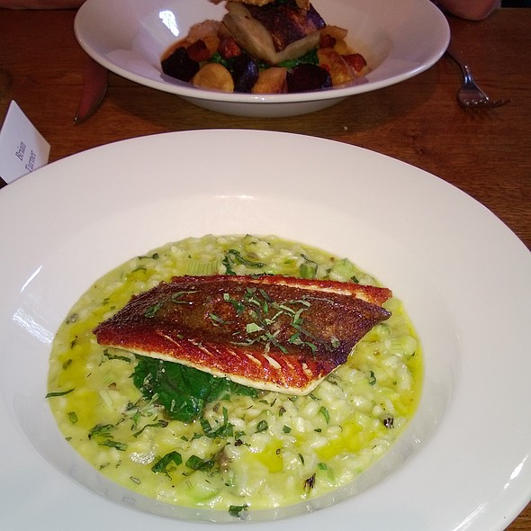 Skate Wing with Baby Asparagus and Risotto - The Pheasant at Keyston, Keyston, Cambridgeshire