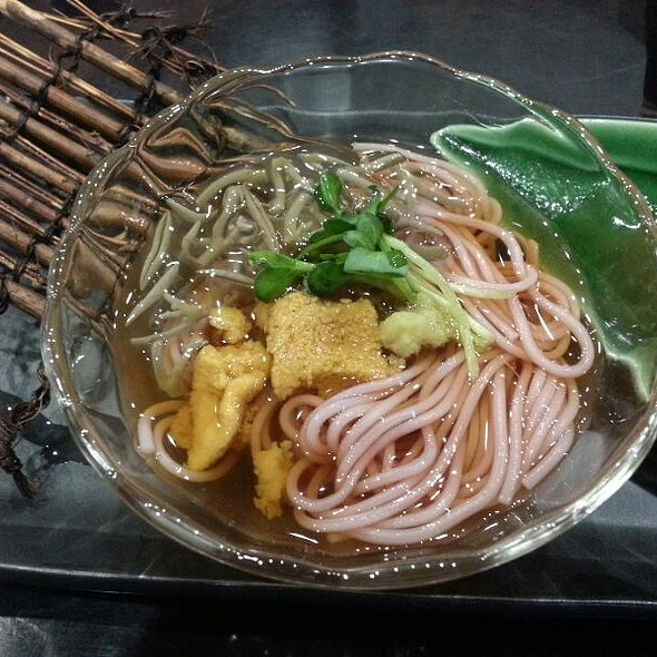 Ume Flavored Noodles With Uni And Lotus Buds - Miyako Japanese Restaurant, Honolulu, HI