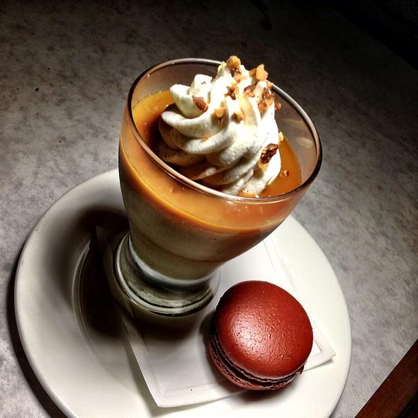 Butterscotch Pudding With Sea Salt Cream - Bottega Louie Restaurant & Gourmet Market, Los Angeles, CA