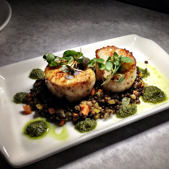 Diver Scallops - Bottega Louie Restaurant & Gourmet Market, Los Angeles, CA