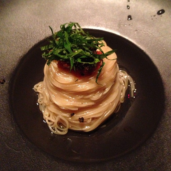 roe and shiso spaghetti - NINJA AKASAKA, Chiyoda-ku, Tokyo